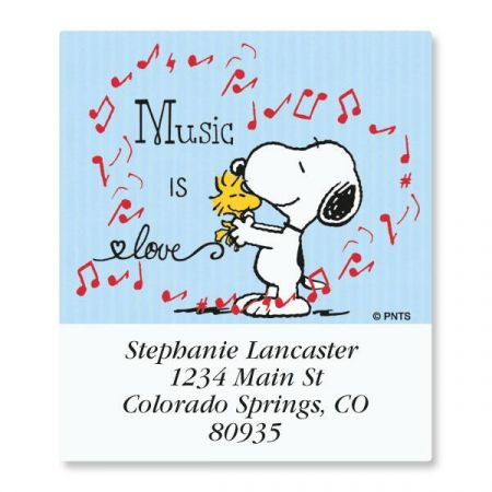 Snoopy™ Music Select Return Address Labels