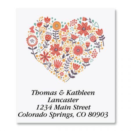Petite Blooms Select Return Address Labels