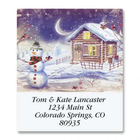 Winter's Calm Select Return Address Labels