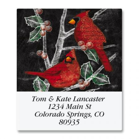 Holly Cardinals Select Return Address Labels