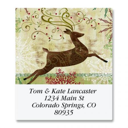 Regal Reindeer Select Return Address Labels