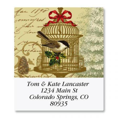 Golden Birdcage Select Address Labels