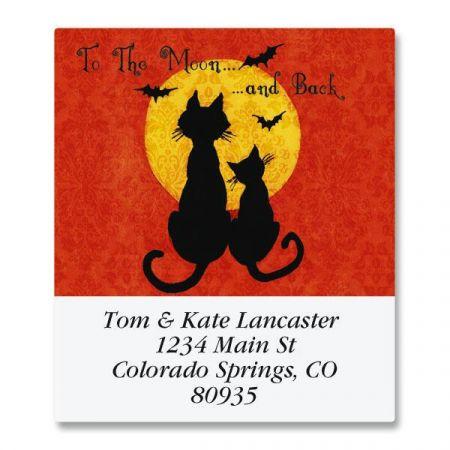 Moon Cats Select Return Address Labels