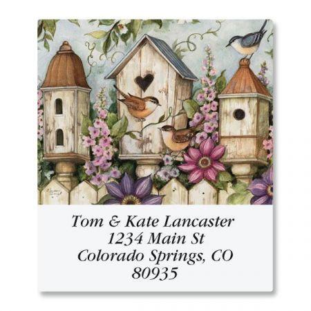 Spring Birdhouse Select Return Address Labels