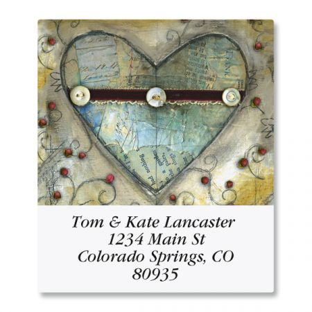 Heart Select Return Address Labels