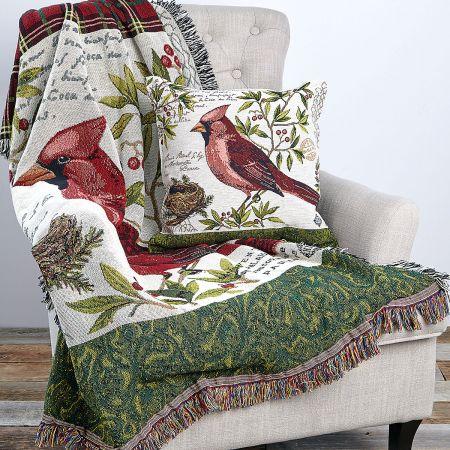 Winter Wonderland Cardinal Throw