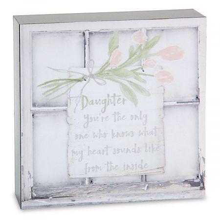 Daughter Window Box Sign