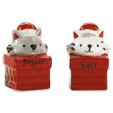 Christmas Cats Salt and Pepper Shaker Set