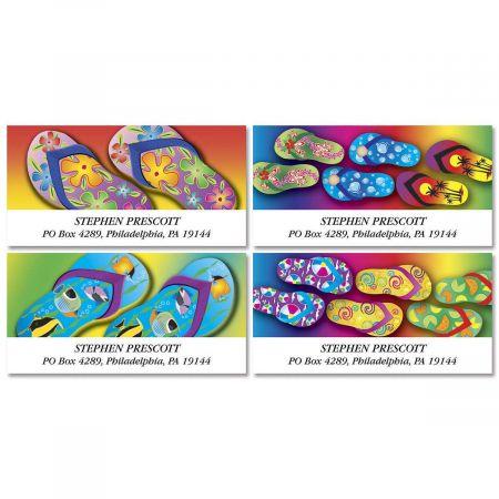 Flip-Flops Fun Deluxe Return Address Labels (4 Designs)