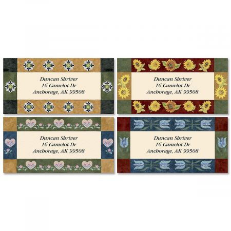 Kountry Korner Border Return Address Labels  (4 Designs)