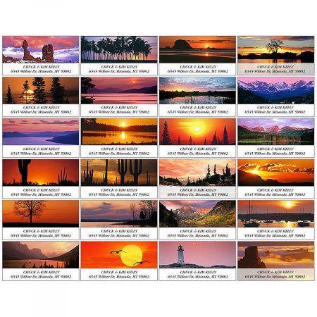 Sunrise & Sunset Deluxe Return Address Labels  (24 Designs)