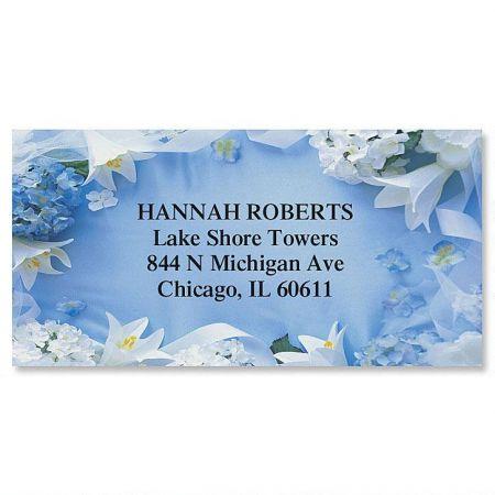 Floral Collage Border Address Labels  (12 Designs)