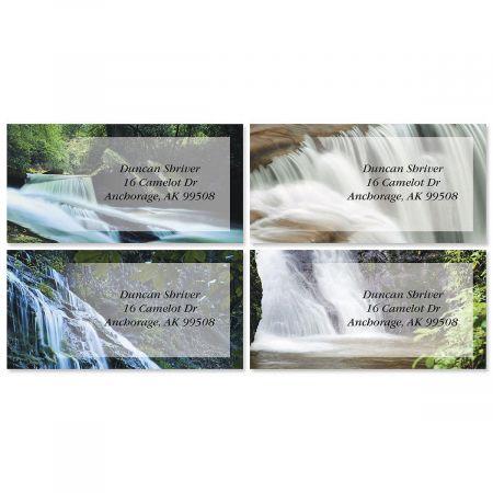 Waterfalls Border Return Address Labels  (4 Designs)
