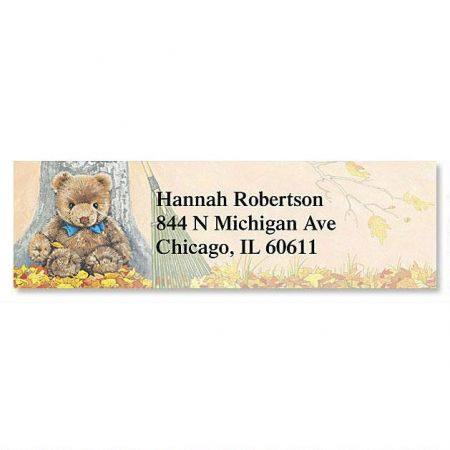 teddy bear magic classic return address labels colorful images