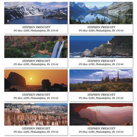 Magnificent Vistas Deluxe Return Address Labels  (8 Designs)