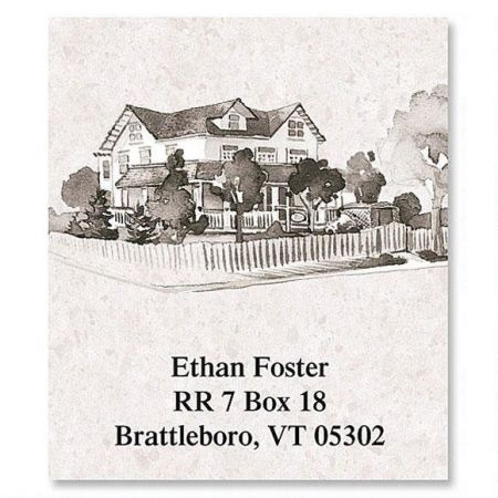 Classic Homes Select Return Address Labels  (12 Designs)