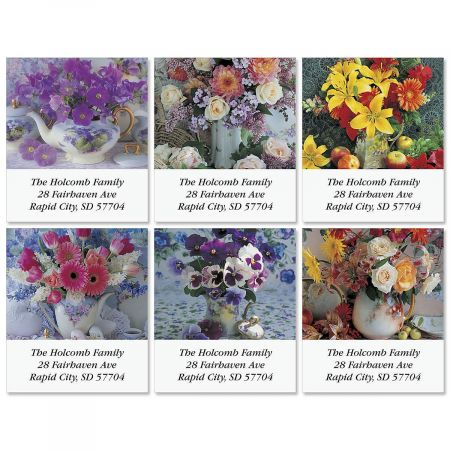 Floral Charms Select Return Address Labels  (6 Designs)