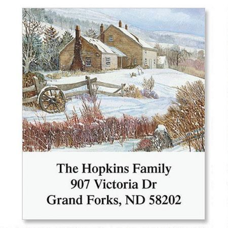 Country Image Select Return Address Labels  (12 Designs)