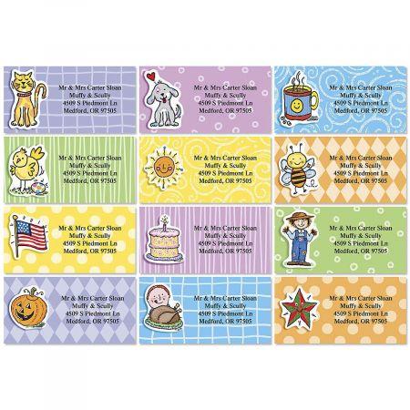 Everyday Doo-Dads Border Address Labels  (12 Designs)