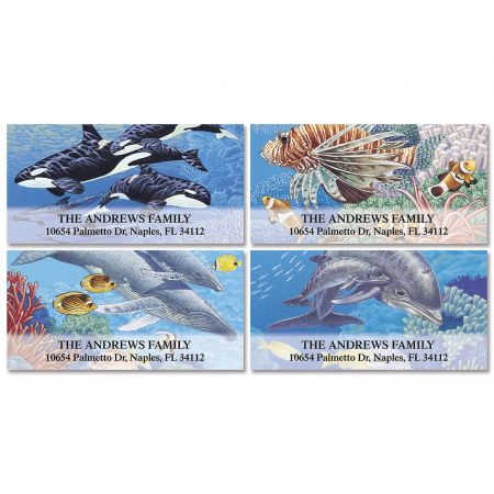 Sea Life Deluxe Return Address Labels  (4 Designs)