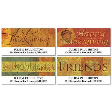Autumn Appreciation Deluxe Return Address Labels  (4 Designs)