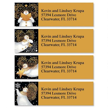 Snow Angels  Classic Return Address Labels  (4 Designs)