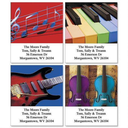 Instrumental Select Return Address Labels  (4 Designs)
