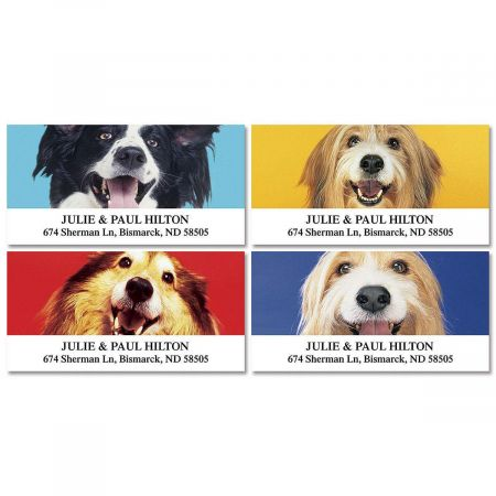 I Love My Mutt Deluxe Return Address Labels  (4 Designs)