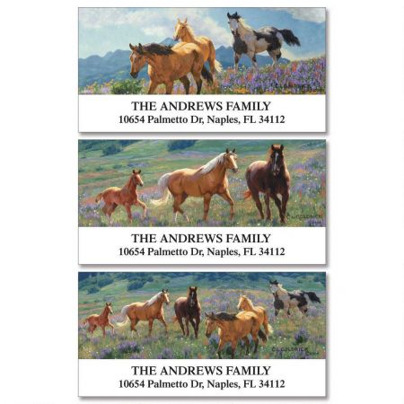 Gallop Horse Deluxe Return Address Labels  (3 Designs)