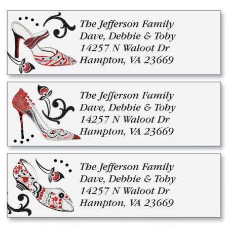 Graceful Shoes Classic Return Address Labels (3 Designs)
