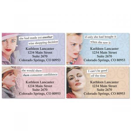 Shopping Border Return Address Labels  (4 Designs)