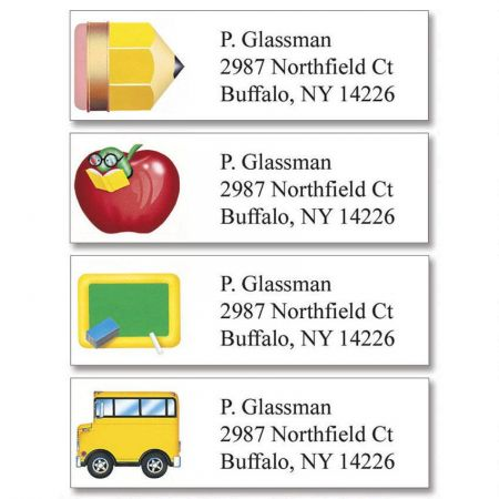 School Fun Classic Return Address Labels  (4 Designs)
