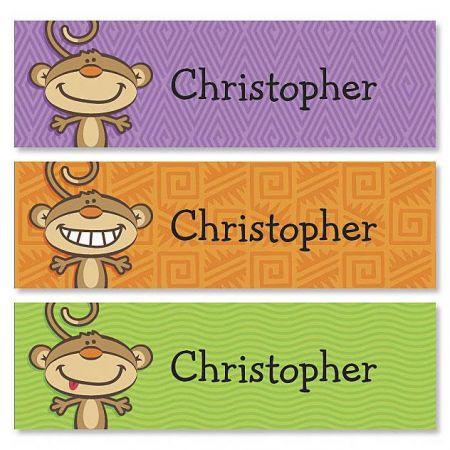 Monkey Belongs To ID Labels  (3 Designs)