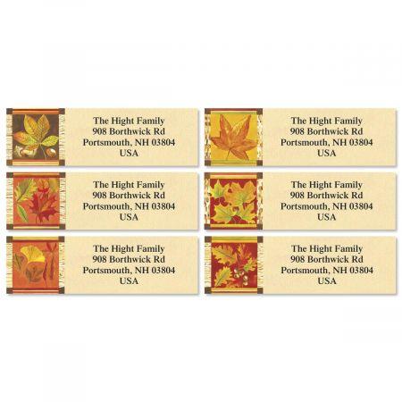 Fall Leaves Classic Return Address Labels  (6 Designs)