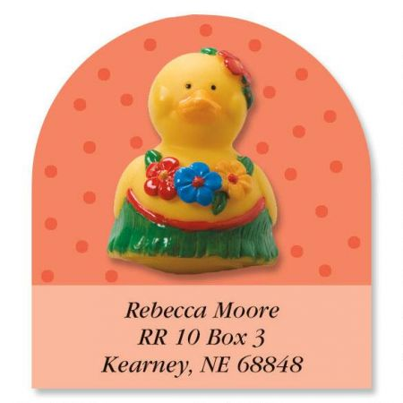 Rubber Duckies Year-Round Diecut Return Address Labels  (12 Designs)