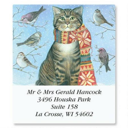 A Year of Cats Select Return Address Labels  (12 Designs)