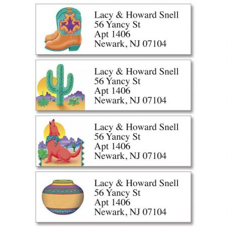 Southwestern Classic Return Address Labels  (4 Designs)