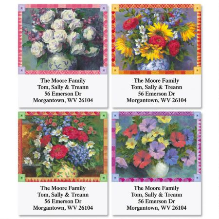 Occasional Floral Select Address Labels  (4 Designs)