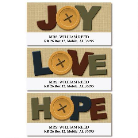 Joy, Love, Hope Deluxe Address Labels  (3 Designs)