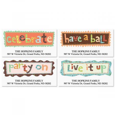 Live It Up Deluxe Return Address Labels  (4 Designs)