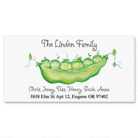 Peas in a Pod Family Deluxe Return Address Labels
