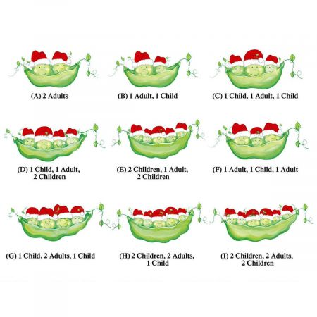 Santa Peas in a Pod Family Deluxe Address Labels