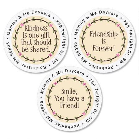 Smile Round Return Address Labels   (3 Designs)