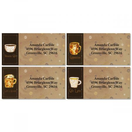 Coffee House Border Return Address Labels  (4 Designs)