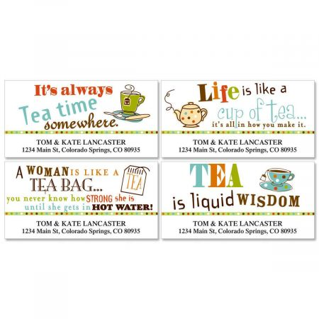 Tea Deluxe Return Address Labels  (4 Designs)
