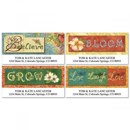 Nature Collection Deluxe Return Address Labels  (4 Designs)