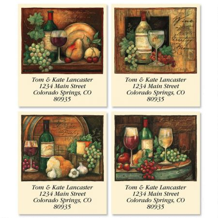 Wine Poetry Select Return Address Labels  (4 Designs)