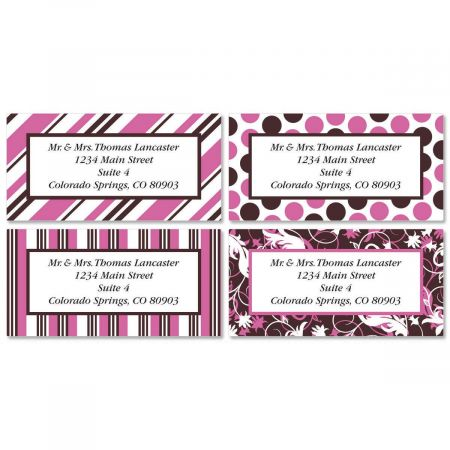 Everyday Dots Border Return Address Labels  (4 Designs)