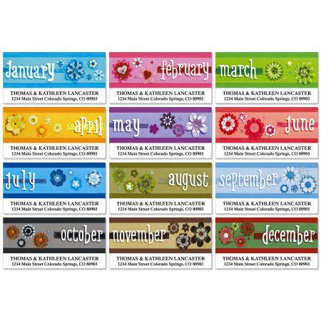 4 Seasons Deluxe Return Address Labels  (12 Designs)
