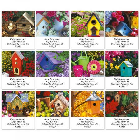 Blossoms and Birdhouses Select Return Address Labels   (12 Designs)